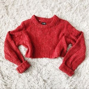 ◾️ASOS Cheap Monday Red Cropped Knit Sweater